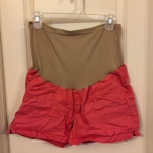 Pants - Coral Maternity Shorts